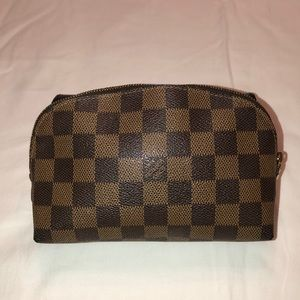 Louis Vuitton Damier Ebene Makeup Pouch
